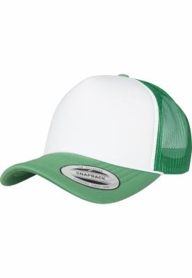 Sapca Trucker Curved Visor Foam verde-alb Flexfit