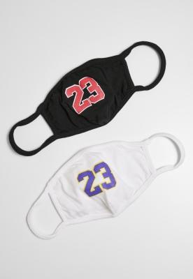 Set de 2 Masca fashion protectie 23 negru-alb Mister Tee