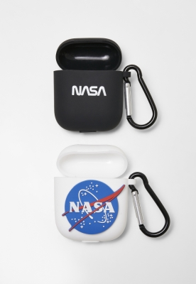 Set de 2 Nasa Earphone Cases alb-negru Mister Tee