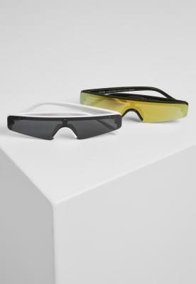 Set de 2 Ochelari de soare KOS negru-alb Urban Classics