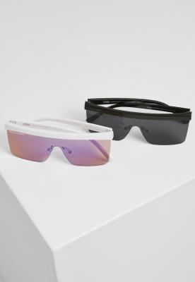 Set de 2 Ochelari de soare Rhodos negru-alb Urban Classics