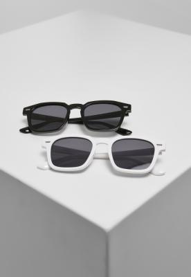 Set de 2 Ochelari de soare Symi negru-black+white Urban Classics alb