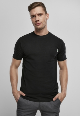 Set de 2 Tricou cu buzunar Organic bumbac Basic white+black Urban Classics alb negru