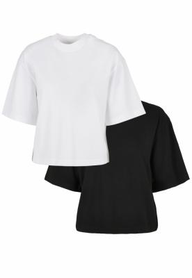 Set de 2 Tricou larg Organic pentru Femei white+black Urban Classics alb negru