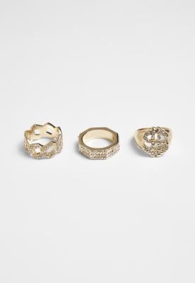 Set de 3 Dollar Ring auriu Urban Classics