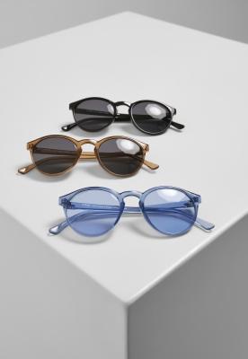 Set de 3 Ochelari de soare Cypress black+brown+blue Urban Classics negru maro albastru