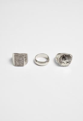 Set de 3 Pray Hands Ring argintiu Urban Classics