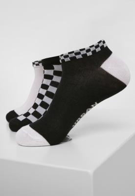 Set de 3 Sneaker Sosete Checks negru-alb Urban Classics