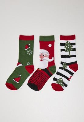 Sosete casual Stripe Santa Christmas 3-Pack Urban Classics
