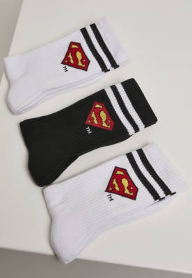 Set de 3 Sosete Superman alb-negru Merchcode