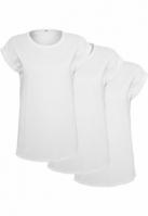 Set de 3 Tricouri maneca larga pentru Femei alb-alb