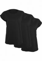 Set de 3 Tricouri maneca larga pentru Femei negru-negru