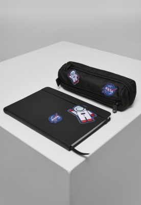 Set NASA Notebook & Pencilcase negru Mister Tee