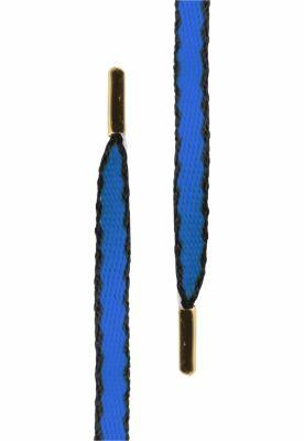 Set Sireturi Gold Hook Up ( of 5 pcs.) albastru roial-negru Tubelaces
