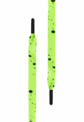 Sireturi urban Set alb Splatter . (. of 5 .) verde neon Tubelaces