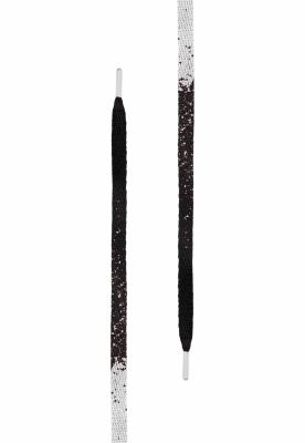 Sireturi urban Set Gold Splatter . (. of 5 .) negru-alb Tubelaces