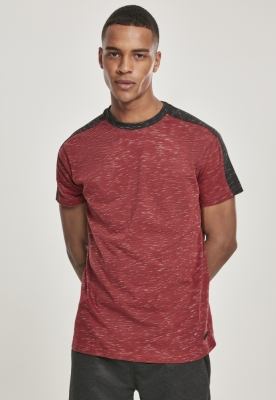 Shoulder Panel Tech Tee marled-rosu Southpole