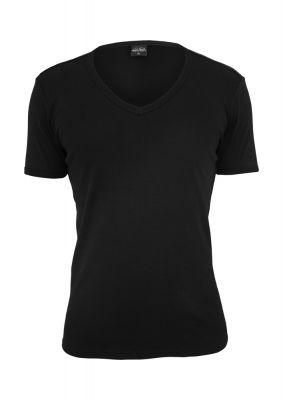 Tricou cu decolteu in V Slim 1by1 negru Urban Classics