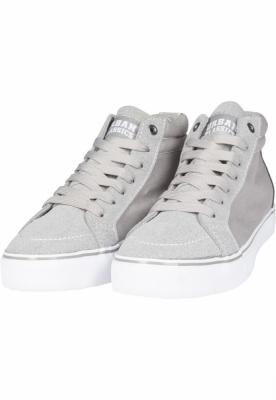 Sneaker High Canvas gri-alb Urban Classics