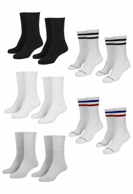 Sosete Sporty 10-. negru-alb Urban Classics