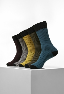 Sosete casual Stripes and Dots 5-Pack Urban Classics