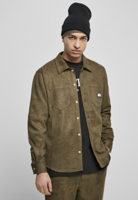 Southpole Poly Suede Woven Shirt tiniolive