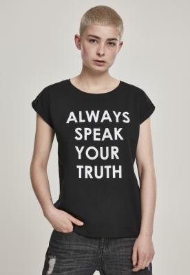 Tricou Speak Truth pentru Femei negru Mister Tee