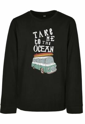 Take Me To The Ocean cu maneca lunga pentru Copii negru Mister Tee