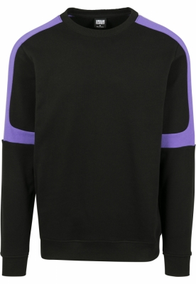 Terry Panel Crew negru-ultraviolet Urban Classics