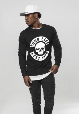 Bluza maneca lunga Thug Life Skull negru