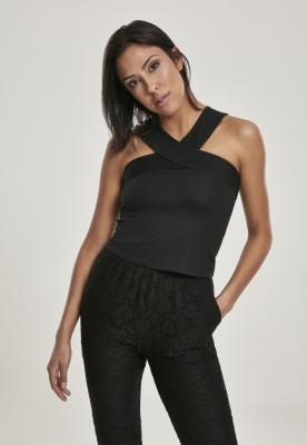Top cu bretele in X pentru Femei negru Urban Classics