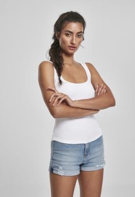 Top cu decolteu pentru Femei alb Urban Classics