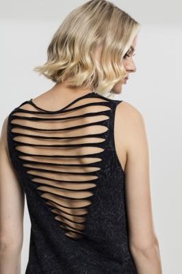 Top cu spatele gol aspect prespalat pentru Femei negru Urban Classics