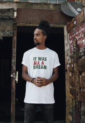 Tricou A Dream alb Mister Tee