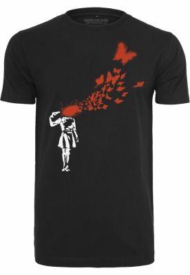 Tricou Banksy Butterfly negru Merchcode