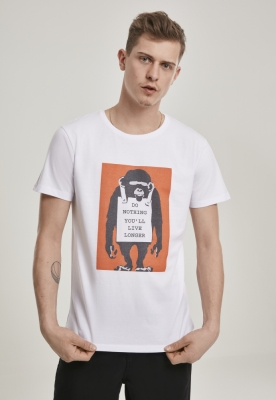 Tricou Banksy Do Nothing alb Merchcode