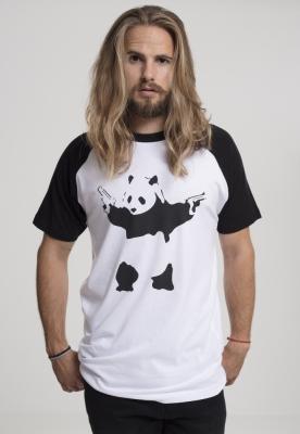 Tricou Banksy Panda alb-negru Merchcode