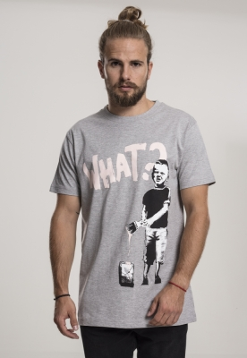Tricou Banksy What Boy deschis-gri Merchcode