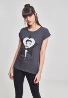 Tricou Betty Boop Star pentru Femei gri carbune Merchcode