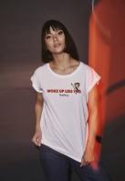 Tricou Betty Boop Woke Up pentru Femei alb Merchcode