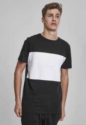 Tricou bumbac contrast negru-alb