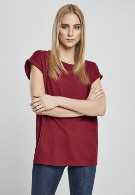 Tricou bumbac organic maneca larga pentru Femei rosu burgundy Urban Classics