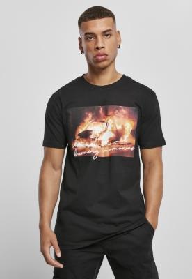 Tricou Burning Car negru Mister Tee