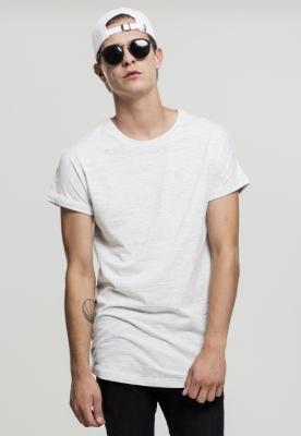 Tricou casual Long urban alb-negru Urban Classics