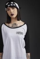 Tricou Chaos Patch pentru Femei alb-negru