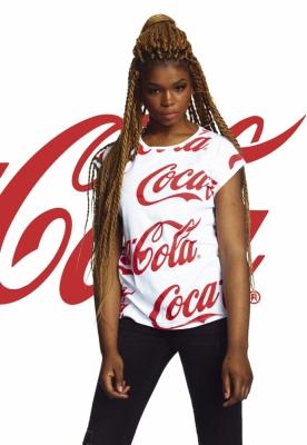Tricou Coca Cola AOP pentru Femei alb