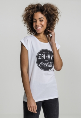 Tricou Coca Cola Chinese negru pentru Femei alb