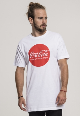 Tricou Coca Cola Round Logo alb Merchcode