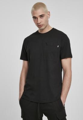 Tricou cu buzunar Basic negru Urban Classics