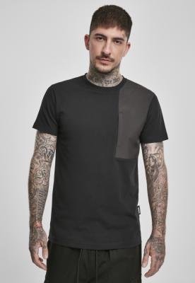 Tricou cu buzunar Military Shoulder negru Urban Classics